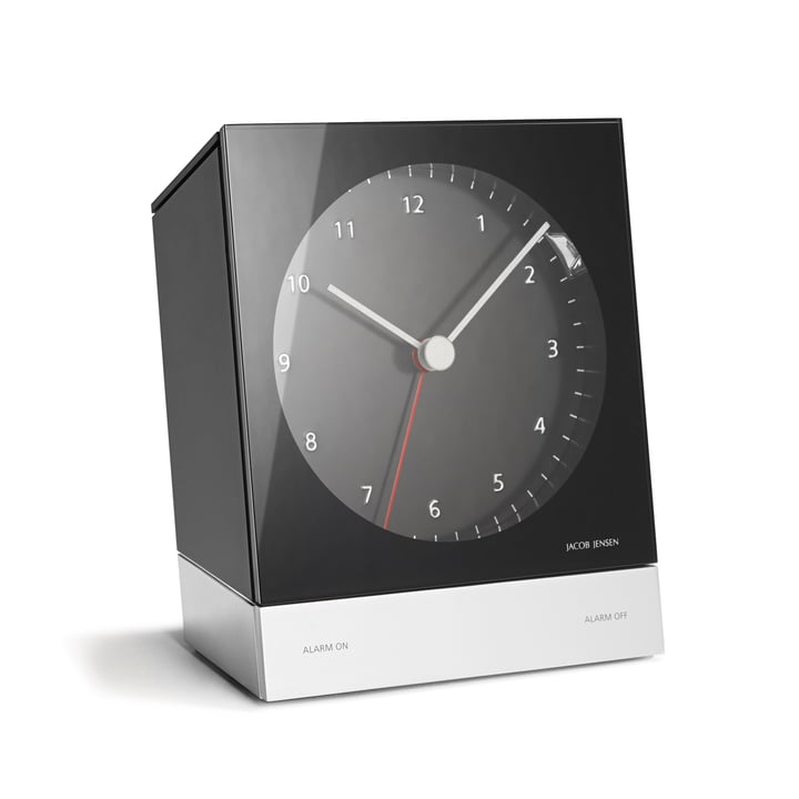 Jacob Jensen - Réveil Alarm Clock Series Quartz 341, noir
