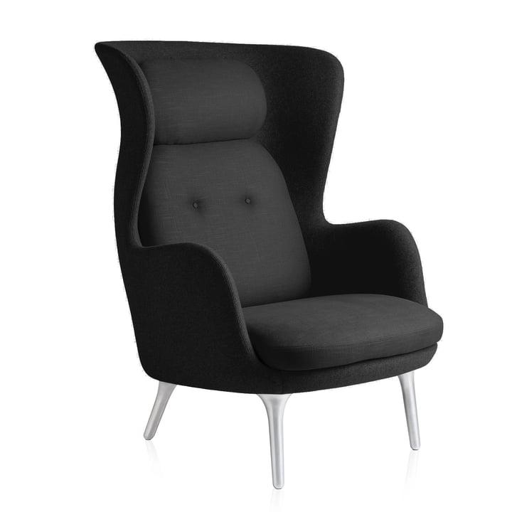 Fritz Hansen - Ro fauteuil, noir / noir