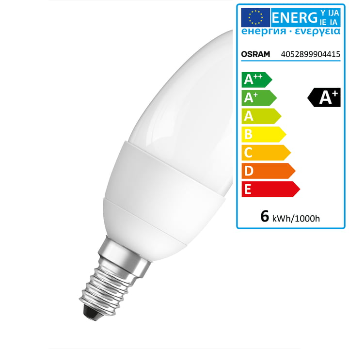 Osram - LED Superstar Classic B 40 adv, E14, frosted