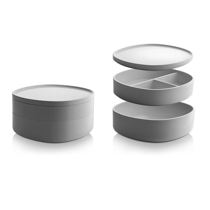 Alessi - Récipient pour salle de bain Birillo PL17W, blanc - compartiments individuels