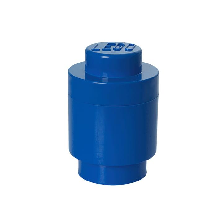 Lego - Brique de rangement1 ronde, bleu