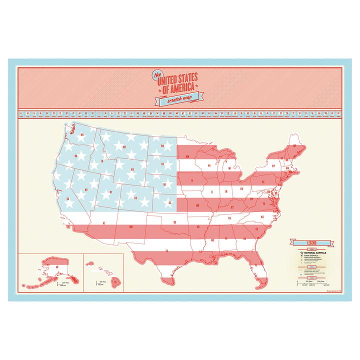 Luckies - Carte Scratch Map USA