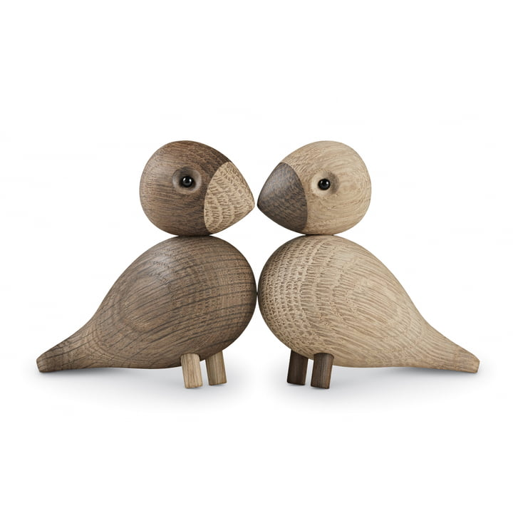 Kay Bojesen Denmark - Les inséparables Set de 2, Oiseaux en bois