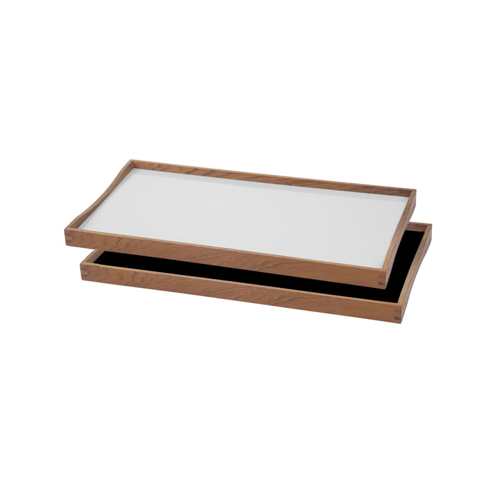 ArchitectMade - Plateau Turning Tray, 23 x 45 cm, blanc