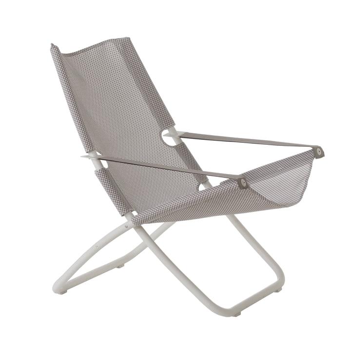 Snooze Chaise longue de Emu en blanc / glace