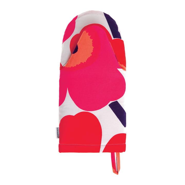 Marimekko - Pieni Unikko manique, blanc / fuchsia / rouge