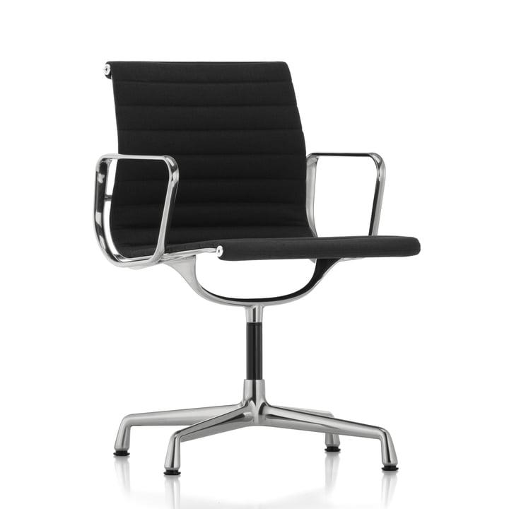 Vitra - EA 104 Chaise de bureau pivotante polie, Hopsak, nero