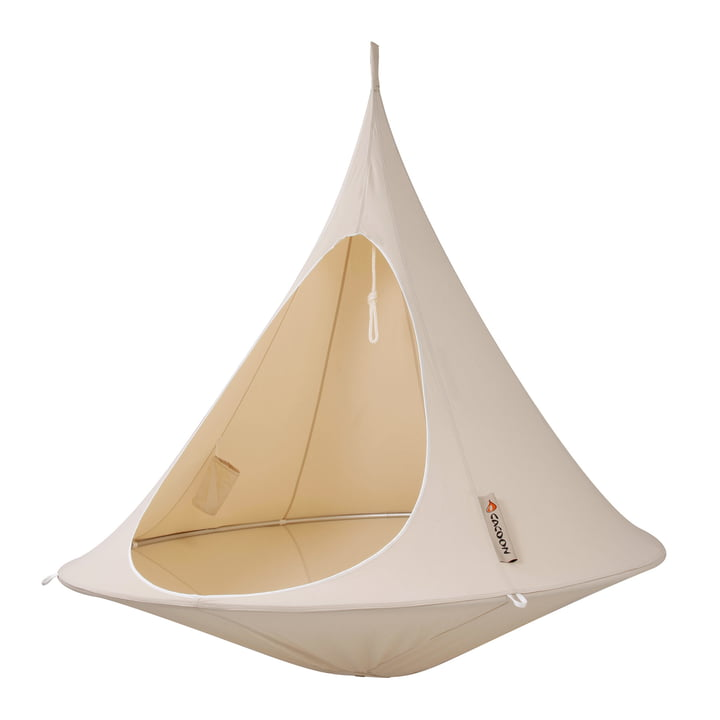 Cacoon - Double siège suspendu, natural white