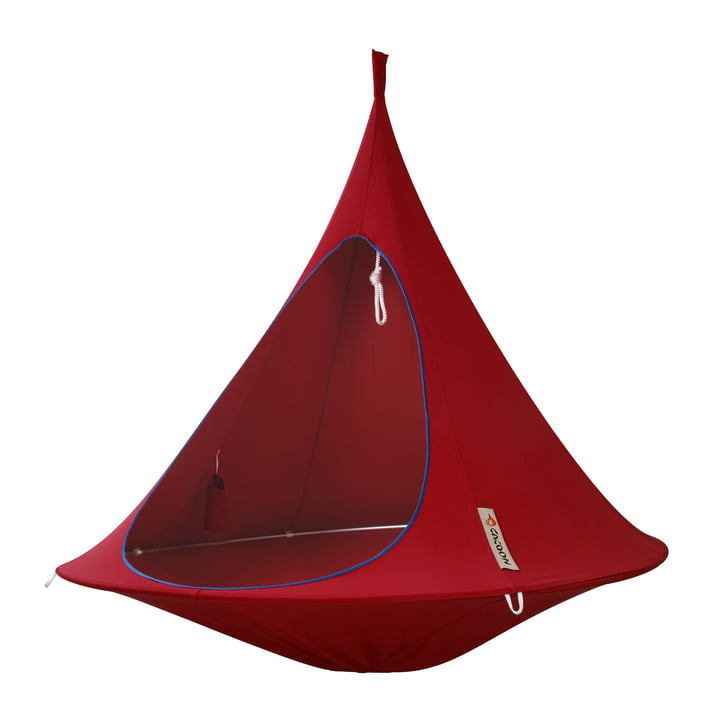 Cacoon - Double siège suspendu, chili red