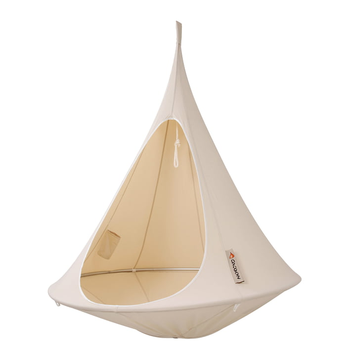 Cacoon - Single siège suspendu, natural white