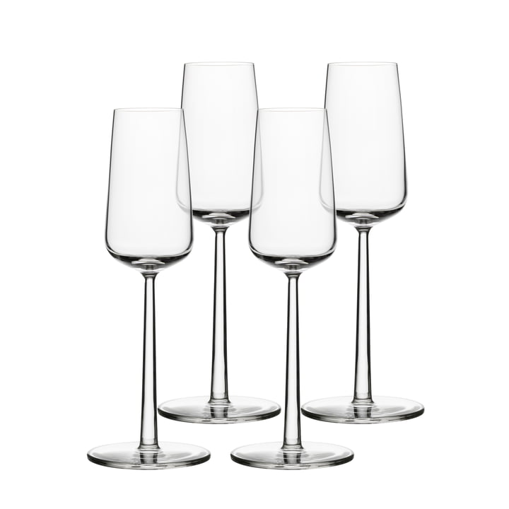 Verre à champagne Essence 21 cl (set de 4) d'Iittala