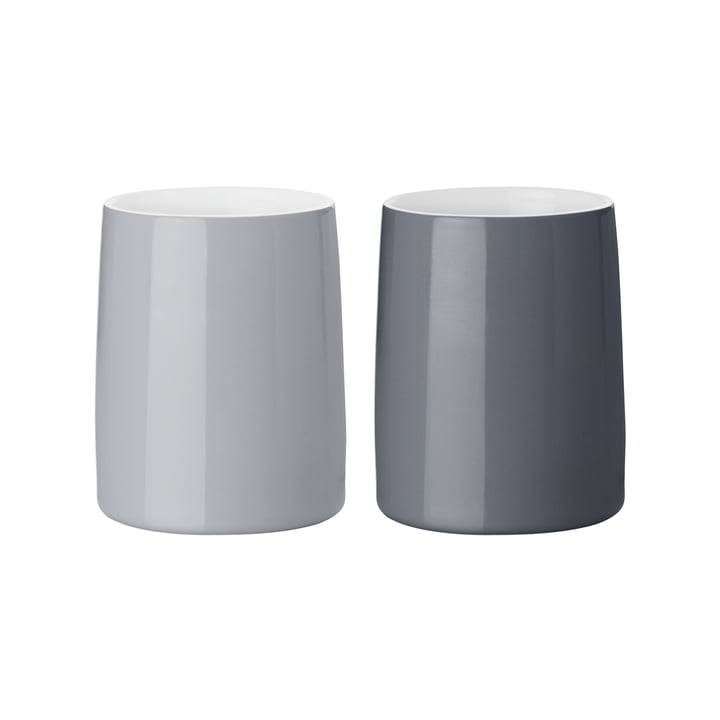 Les tasses thermo Emma de Stelton , 0,25 l, gris (lot de 2)