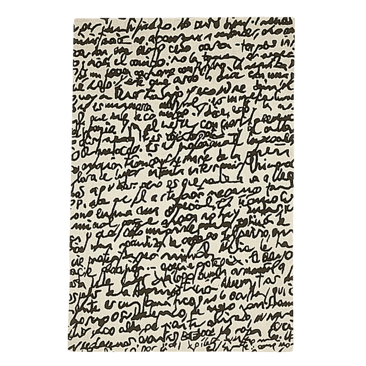 nanimarquina - Tapis Black on white « Manuscrit » 200 x 300 cm