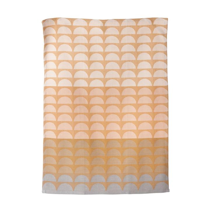 ferm Living - Torchon à vaisselle Bridges, rose, 50x70cm