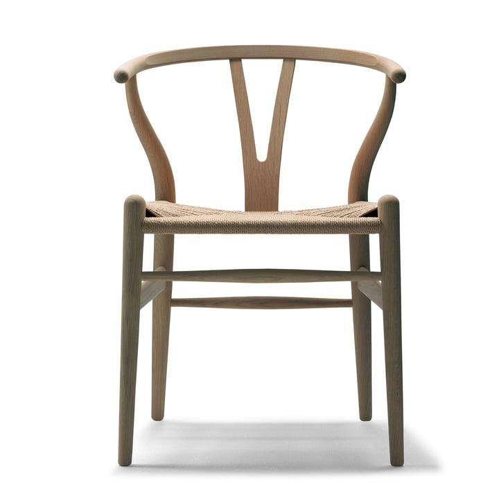 CH24 Wishbone Chair de Carl Hansen en chêne huilé / osier naturel