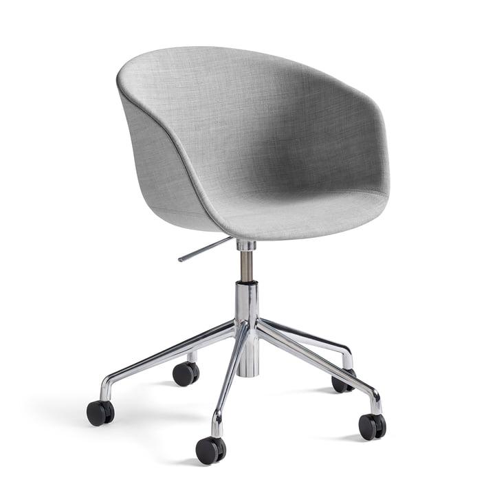Hay - About a Chair AAC 53 avec réglage de hauteur à pression gaz, Remix gris clair (123) / poli