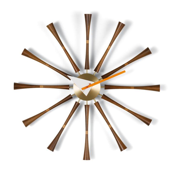 Vitra - Spindle Clock, Aluminium / noyer