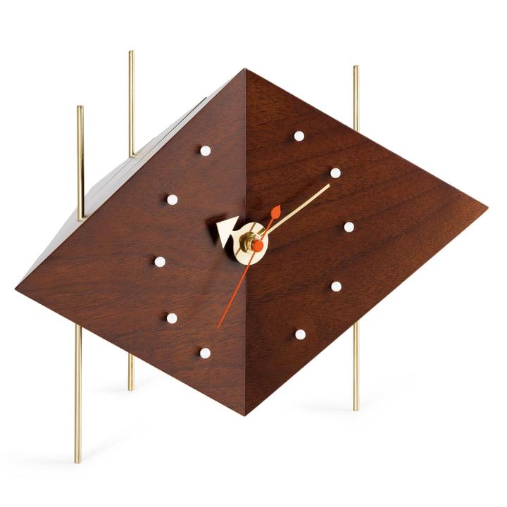 Vitra - Diamond Clock, noyer massif