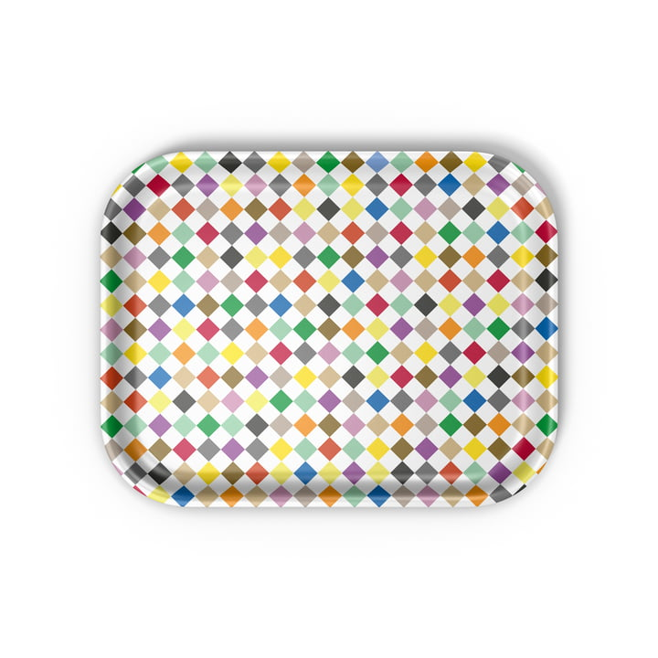Vitra - Classic Tray medium, Diamonds multicolore