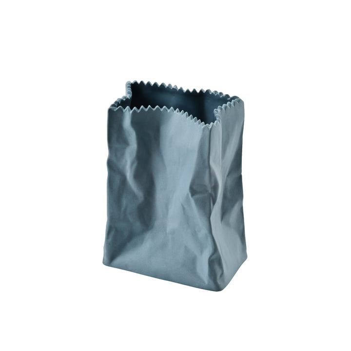 Rosenthal - Vase sac en papier, 10cm gorge-de-pigeon