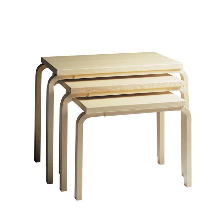Artek - Tables 88 Nesting, placage bouleau (set de 3 tables)