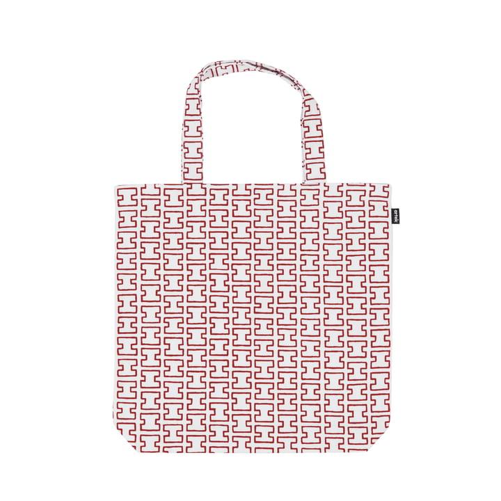 Le sac en tissu H55 de Artek , blanc / rouge