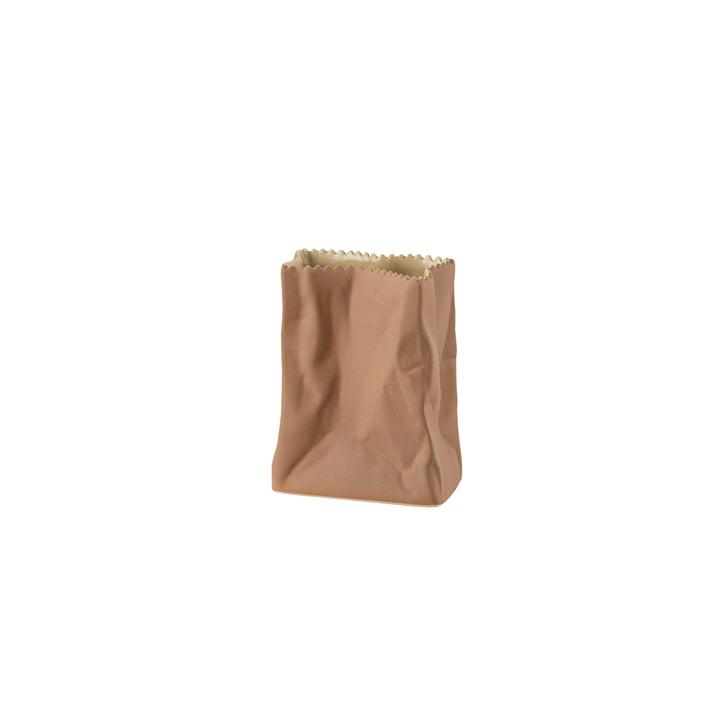Rosenthal - Vase sac en papier, 10cm, marron clair