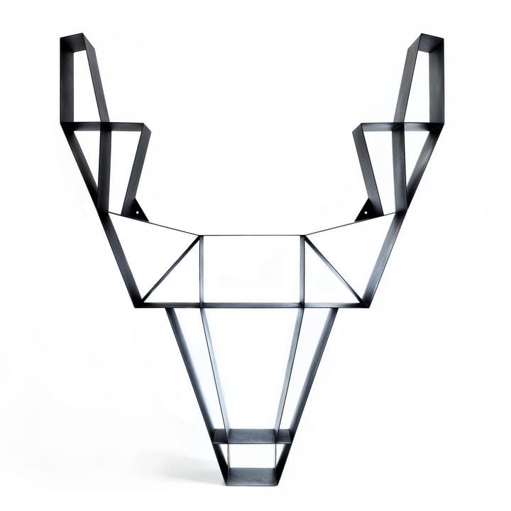 BeDesign - Deer en métal, grand, noir