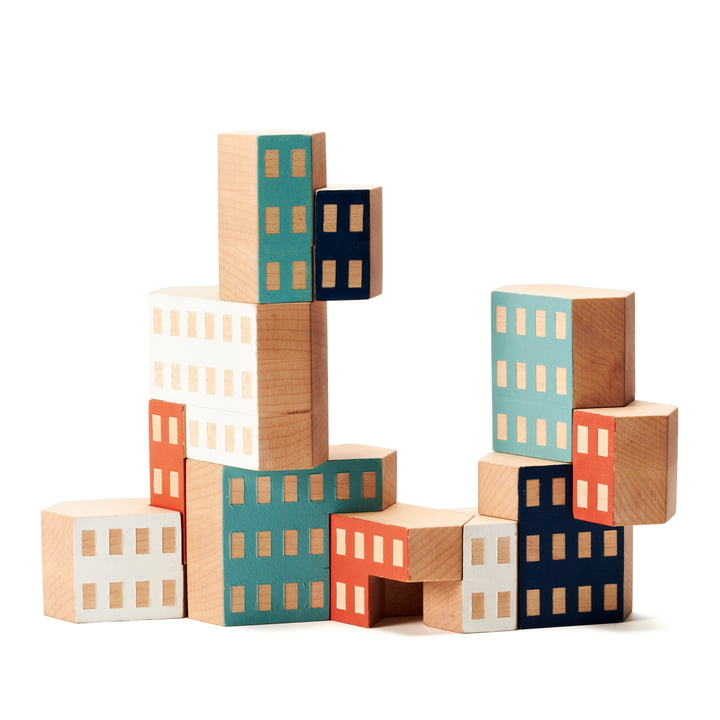 Areaware - Blockitecture, jeu de construction en bois