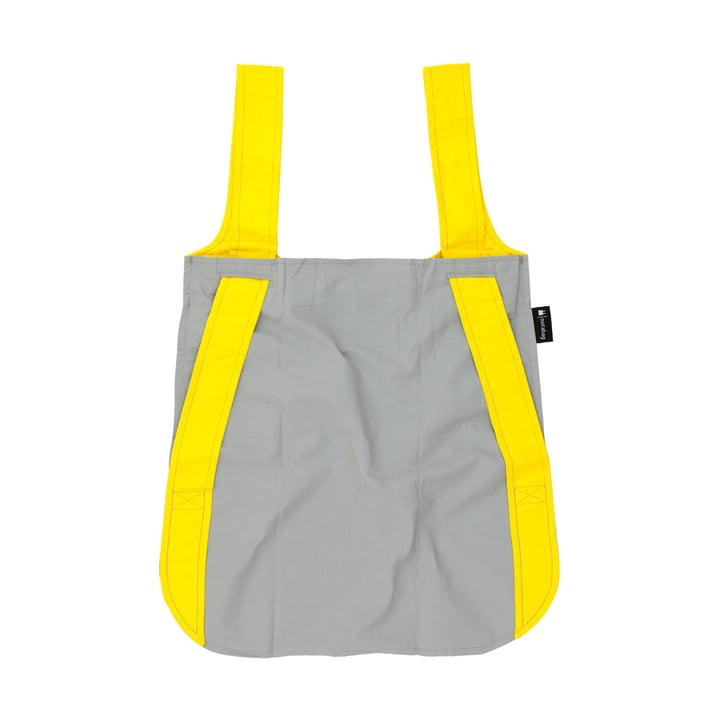 Notabag - Sac à main et à dos, jaune/gris