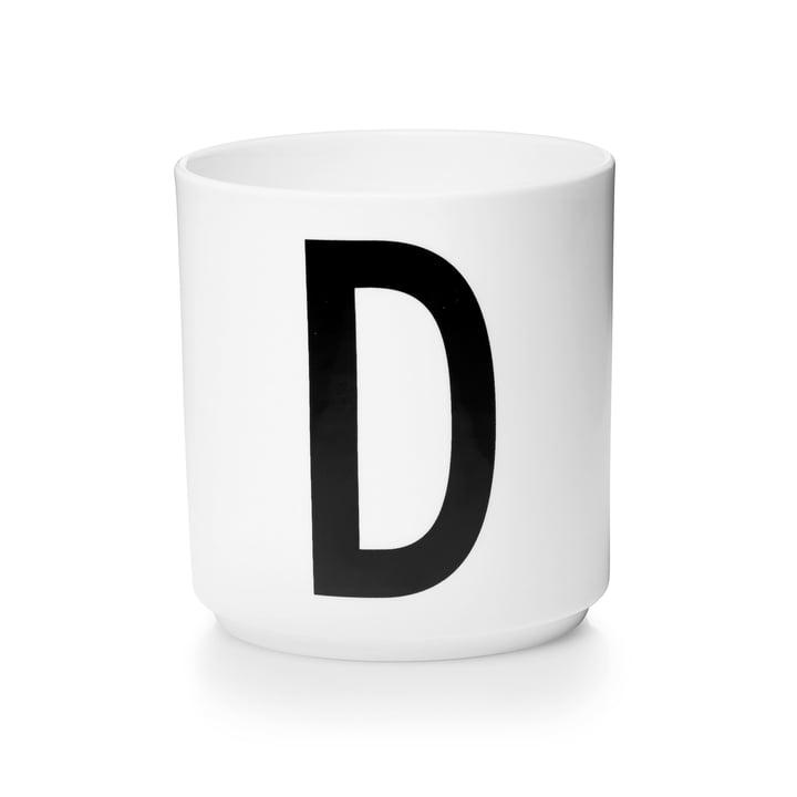 Design Letters - Tasse en porcelaine AJ - D
