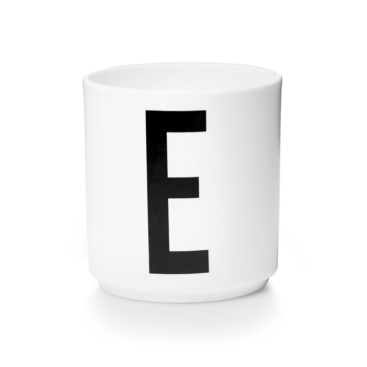 Design Letters - Tasse en porcelaine AJ - E
