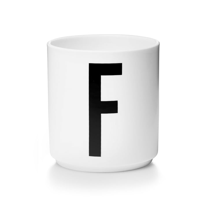 Design Letters - Tasse en porcelaine AJ - F