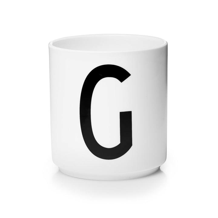 Design Letters - Tasse en porcelaine AJ - G