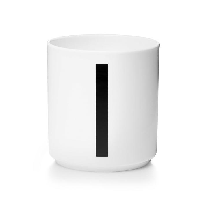Design Letters - Tasse en porcelaine AJ - I