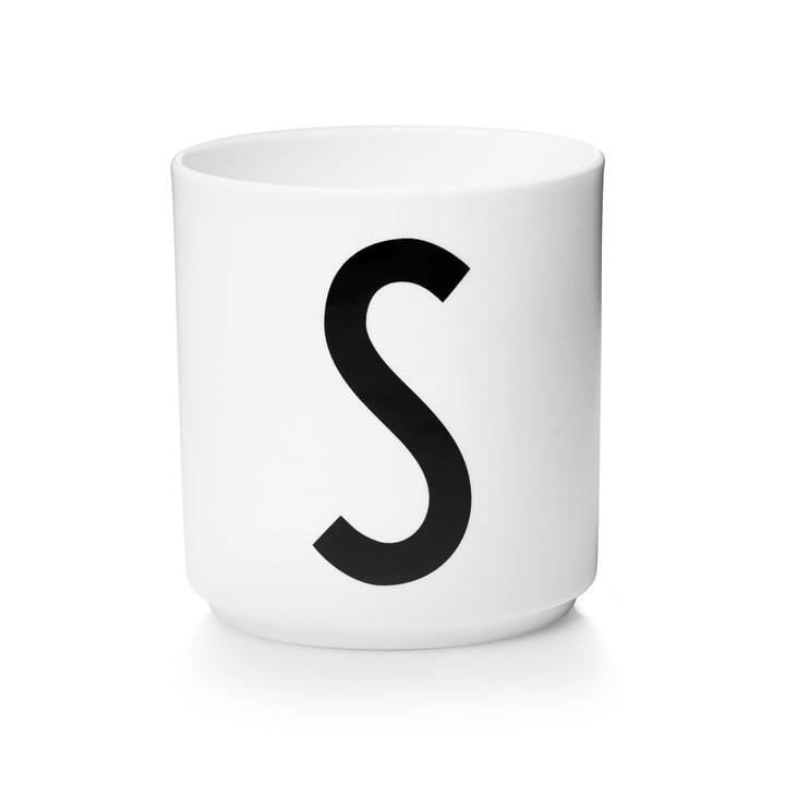 Design Letters - Tasse en porcelaine AJ - S