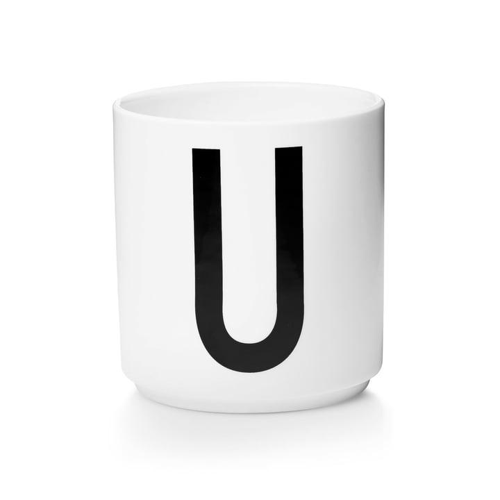 Design Letters - Tasse en porcelaine AJ - U
