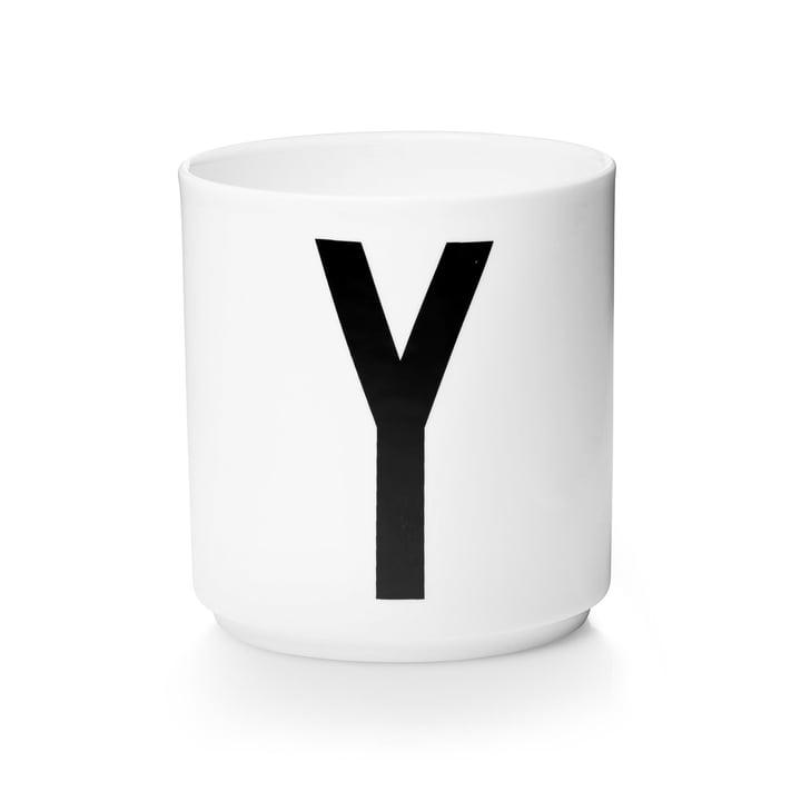 Design Letters - Tasse en porcelaine AJ - Y