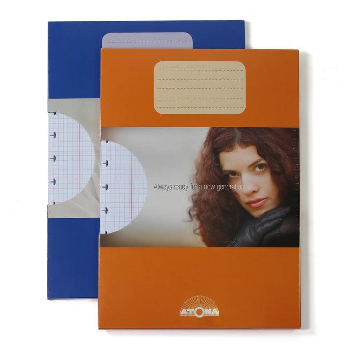 Atoma - Pack de recharge Basic A4 quadrillé, duo avec emballage