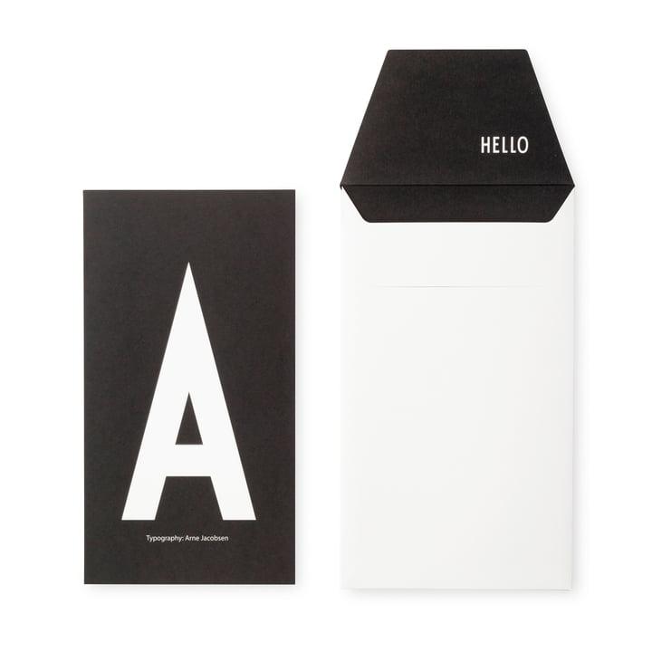 Design Letters - Carte postale AJ A