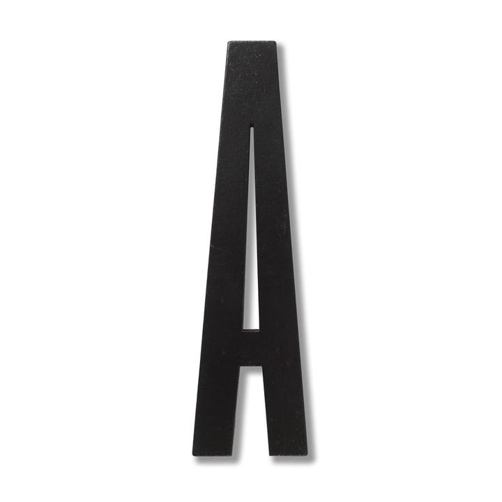 Wooden Letters Indoor A de Design Letters en noir