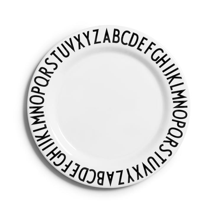 Design Letters - Assiette en mélamine AJ, version plate
