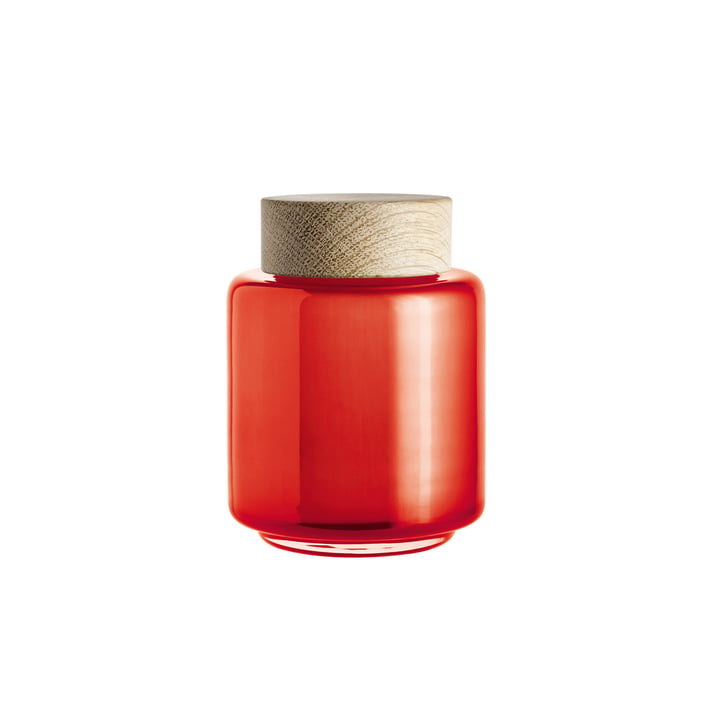 Holmegaard - Bocal avec couvercle Palet en orange pour 0,35 l