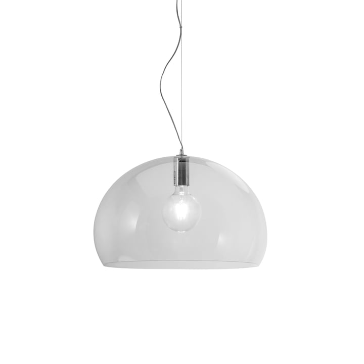 Suspension lumineuse FL/Y de Kartell en transparent