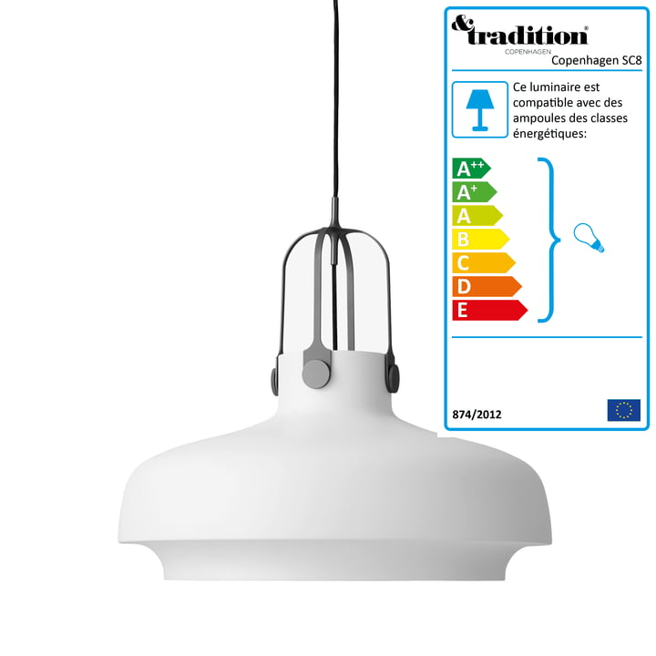 &Tradition - Copenhagen SC8 luminaire suspendu, noir mat