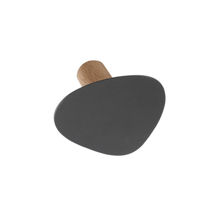 LindDNA - Patère Wall Dot S en Nupo anthracite