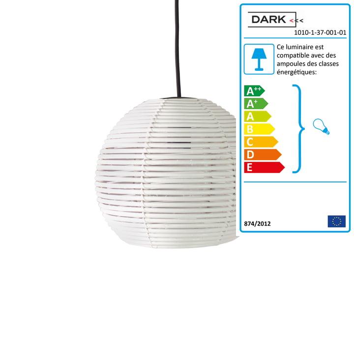 Dark - Suspension lumineuse Sangha 30, blanc