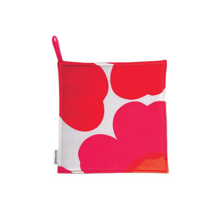 Pieni Unikko maniques pour Marimekko en rouge