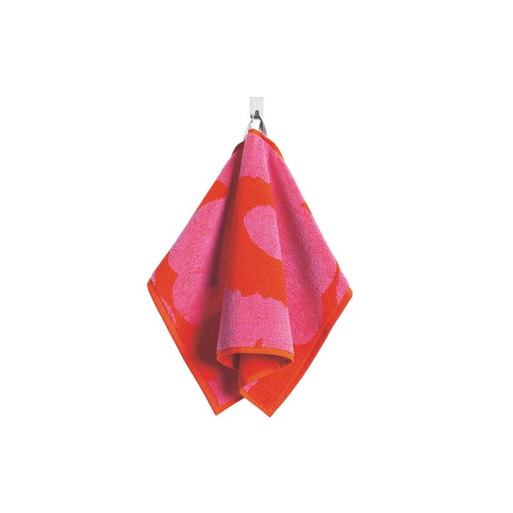 Serviette d'invité Unikko 30x50cm de Marimekko en rouge