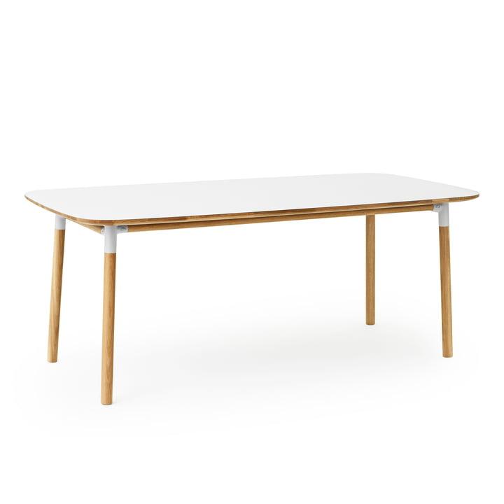 Table Form 95 x 200cm de Normann Copenhagen en chêne/blanc